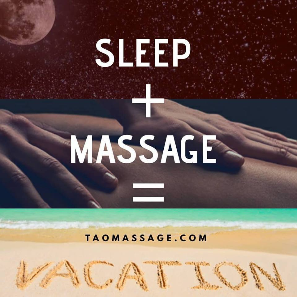 sleep + massage = vacation