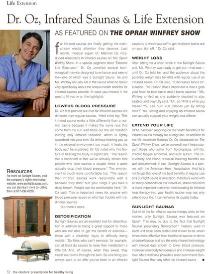 Dr Oz Far Infared Sauna